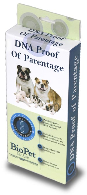 Proof of Parentage dog DNA test
